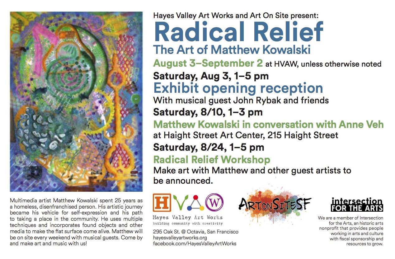 HVAW Radical Relief print flyer copy