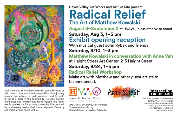 HVAW Radical Relief print flyer copy